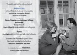 Meghívó - Nemes Nagy Ágnes és Lengyel Balázs